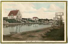 Ak Burg b. Magdeburg Schwimmanstalt koloriert