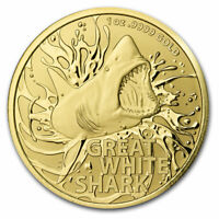 2021 Australia 1 oz Gold $100 Great White Shark BU (w/COA) - SKU#218306