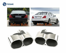 Fits Mercedes-Benz S-Class AMG Style S500 S550 Exhaust Pipe/Tip Muffler - Mirror