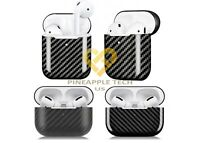 Real Carbon Fiber For Apple Airpods Pro / Airpod Cover Case Glossy Matte Black