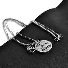 Fashion Pet Lovers All Paws Matter Dog Animal Foot Print Paw Pendant Necklaces