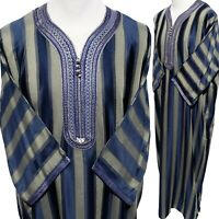 SIZE 56 Men Moroccan 3/4 Sleeves Cotton Blend Thobe-MADE IN MOROCCO