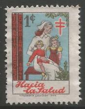 stamps-colombia. 1941 Noël - 1c anti T.B.Charité Affiche timbre. Uncancelled