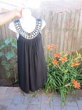 NWOT Michael Kors Black with Gold Metal Detail Neckline- Cleopatra Dress Size SP