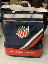 Rare 70's Official US Ski Team blue ACE Travel Rolling  Bag Carry USA Olympics