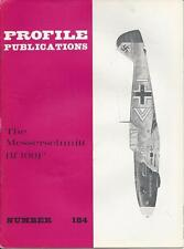PROFILE PUBLICATIONS #184 MESSERSCHMITT BF 109F WWII  MILITARY AIRPLANE PLANE