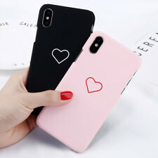 Shockproof Heart Matte Hard PC Ultra Slim Case Cover For iPhone X 8 7 Plus 5 6S
