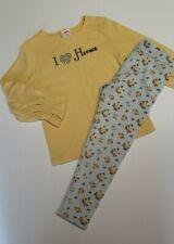 Gymboree Equestrian Club yellow shirt w floral brown leggins set girls size 4
