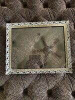 "Vintage Ornate Gold Frame Mid Century Metal Picture Hollywood Regency 13"" x 16"""