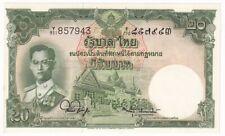 THAILAND 20 BAHT 1953 SIGNATURE 44 P# 77d REPLACEMENT Y/901 857943 UNC (30070)