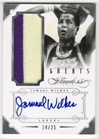 2012-13 Panini Flawless Jamaal Wilkes Auto Patch #14/25 Lakers
