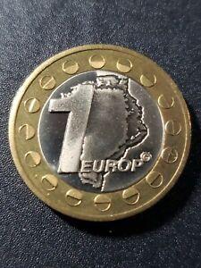Greenland  2004  Exonumia  1 europ  bi-metallic  23mm uncirculated  coin...
