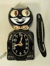 Old Jeweled Kit Cat Klock In Original Box - Electric Novelty Wall Clock