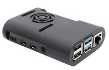 Raspberry Pi 4 Gehäuse geeignet für Lüftermontage Case ABS neues Design schwarz