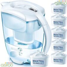 BRITA Elemaris Cool 3.5L XL Home Water Filter Jug with 6 MAXTRA Filters - White