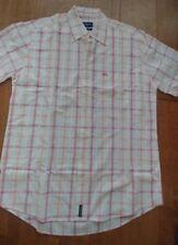 Mens Mc Gregor exclusive design Button Down plaid Shirt Classic Fit Orange red