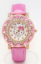 Hello Kitty  PINK Wrist Watch Girl Teens Kids Cartoon Quartz Watch