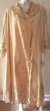 Vtg 1890-1900s Victorian- Edwardian Cream Velvet Wool Battenburg Tape Lace Coat