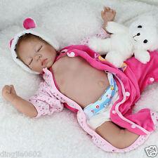 "Lifelike 22"" Reborn Newborn doll Silicone Soft sleeping baby girl toy gifts"