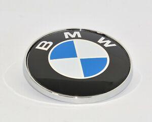 STEMMA BMW SERIE 1 3 5 6 FREGIO LOGO EMBLEMA COFANO ANTERIORE / POSTERIORE 74MM