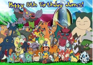 Pokemon Personalised Large Birthday Card ANY DESIGN LOOK Son Brother