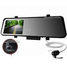 Dual Dash Car Camera  Rear View Mirror Reversing Security System Video Crash
