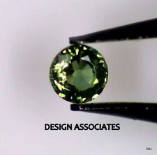 GREEN SAPPHIRE 4 MM ROUND CUT ALL NATURAL AAA