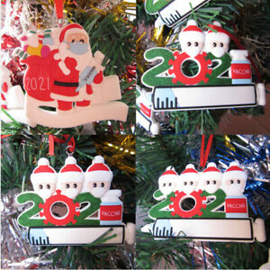 2021 Christmas Ornament Santa Claus Decorate Xmas tree Hanging Vaccine Pend