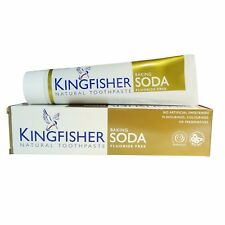 KINGFISHER BAKING SODA TOOTHPASTE - FLUORIDE FREE 100ml (Pack of 4)