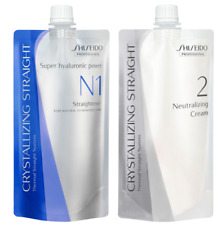 Shiseido Permanent Straightener for Natural/ Coarse Hair - H1/N1 and Cream Combo