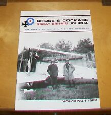 CROSS & COCKADE GREAT BRITAIN JOURNAL VOL 13  No 1 1982 LES AVIATIKS AERO ENGINE
