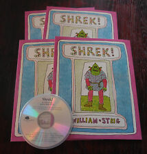 Shrek by William Steig New Scholastic Listening Center 4 Book Set with CD