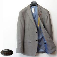 "M&S Collezione italiano de lana fina Blazer ~ Talla 36"" Med ~ Marrón dentón cheque"