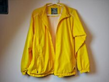 c Page & Tuttle Free Swing Golf Wind Jacket Bright Yellow Full Zip Size Large *