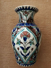 ANTIQUE OTTOMAN MIDDLE EAST GREEK KUTAHYA CERAMIC VASE ISLAMIC POTTERY JAR IZNIK