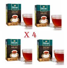 Dilmah Earl Grey Greay Tea 50 Tea Bags x 4 boxes Ceylon Tea
