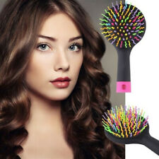 Rainbow Detangling Hair Brush Anti-Static Magic Styling Massage Comb With Mirror