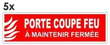 Sticker signalétique plastifié PORTE COUPE-FEU mod.2 - 12cm x 3,5cm