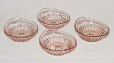 """FOUR Perfect Vintage Flamingo Pink Heisey """"NARROW FLUTE"""" Nut Dishes!!"""