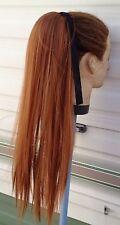 """20"""" Cobre Rojo de jengibre Recto Cola De Caballo Extensión De Cabello Hair Piece Vestido de fantasía"""