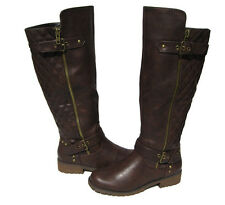 New Women's Riding Boots Motorcycle Shoes Brown  Winter Snow Ladies size 7