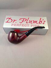 Dr Plumb London Made Smoking Pipe - Bent Stem Brown Smooth 9606