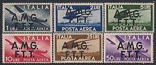 TRIESTE A 1947 - POSTA AEREA n. 1/6 INTEGRI € 180