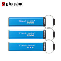 Kingston DataTraveler 2000 16GB 32GB 64GB USB3.1 Encrypted Drive with Tracking#