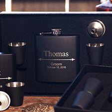Personalized Flask Gift Box +Funnel +Shots, Wedding, Birthday, Groomsman, Party