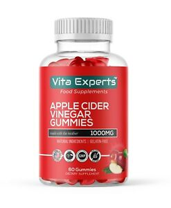 Apple Cider Vinegar Gummies 60×1000mg Vegan Testy Gummies | help in Weight lose.