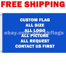 Custom Flag Banner Any Size 3x5 2x3 4x6 2x8 ft Any Logos Pictures - Contact us