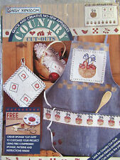 "Daisy Kingdom: ""Apple A Day"" No Sew Fabric Applique Kit FABRIC APPLE BASKET  NIP"