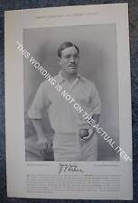 RARE Original Famous Cricketers, #018 J.T.Brown, Yorkshire, Cricket 1895