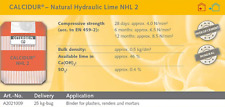 Natural Hydraulic Lime 2.0 - 25 KG Bag